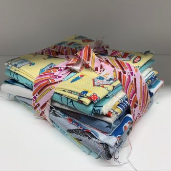 DESTASH Seaside Stash Starter Bundle Cotton Fabric Stash Stack