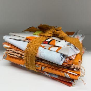 DESTASH Orange Stash Starter Bundle Cotton Fabric Stash Stack