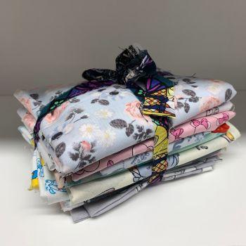 DESTASH Disney Stash Starter Bundle Cotton Fabric Stash Stack