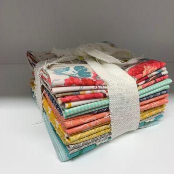 DESTASH Spring Shades Stash Starter Bundle Cotton Fabric Stash Stack