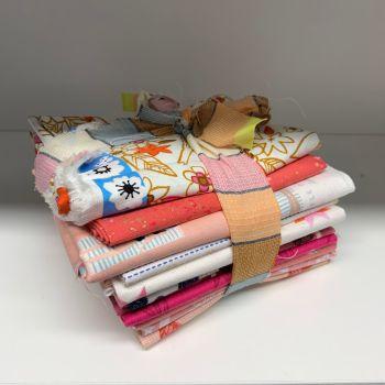 DESTASH Pretty Pink Stash Starter Bundle Cotton Fabric Stash Stack