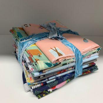 DESTASH Holiday Vibes Stash Starter Bundle Cotton Fabric Stash Stack