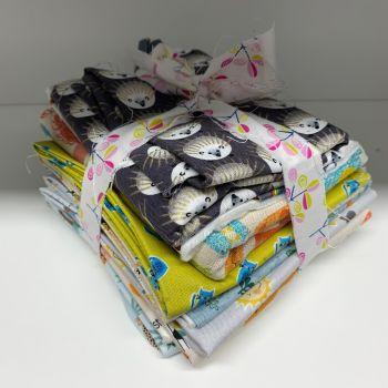 DESTASH Cute Creatures Stash Starter Bundle Cotton Fabric Stash Stack