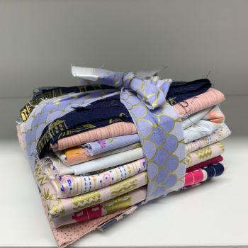 DESTASH Pretty Prints Stash Starter Bundle Cotton Fabric Stash Stack