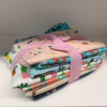 DESTASH Summer Holidays Stash Starter Bundle Cotton Fabric Stash Stack
