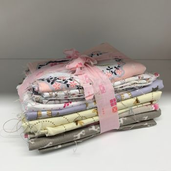 DESTASH Cute Creatures Stash Starter Bundle Cotton Fabric Stash Stack - Batch 2