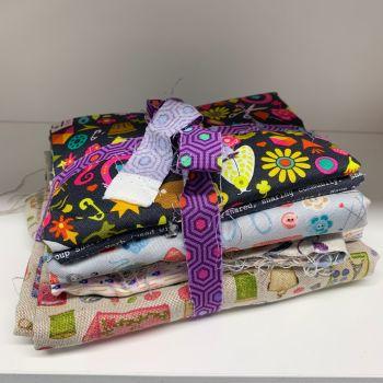 DESTASH Sewing Stash Starter Bundle Cotton Fabric Stash Stack