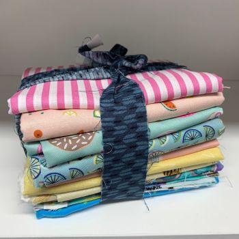 DESTASH Scrummy Summer Stash Starter Bundle Cotton Fabric Stash Stack