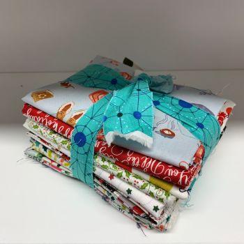 DESTASH Christmas A Bundle Stash Starter Bundle Cotton Fabric Stash Stack