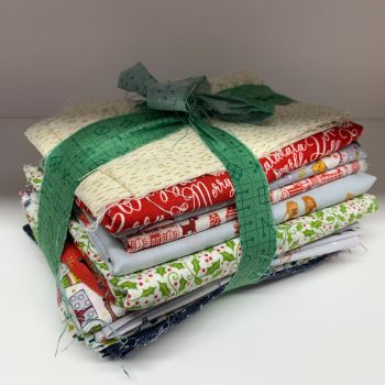 DESTASH Christmas B Bundle Stash Starter Bundle Cotton Fabric Stash Stack