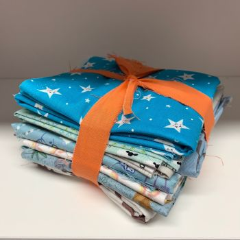 DESTASH Cute Kids Nursery Stash Starter Bundle Cotton Fabric Stash Stack