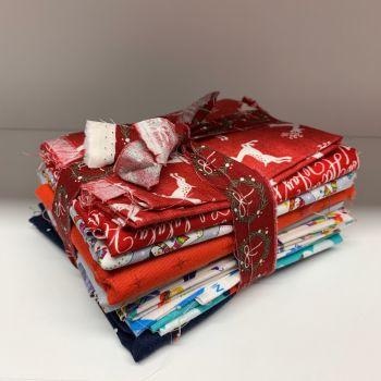 DESTASH Christmas B Bundle Stash Starter Bundle Cotton Fabric Stash Stack