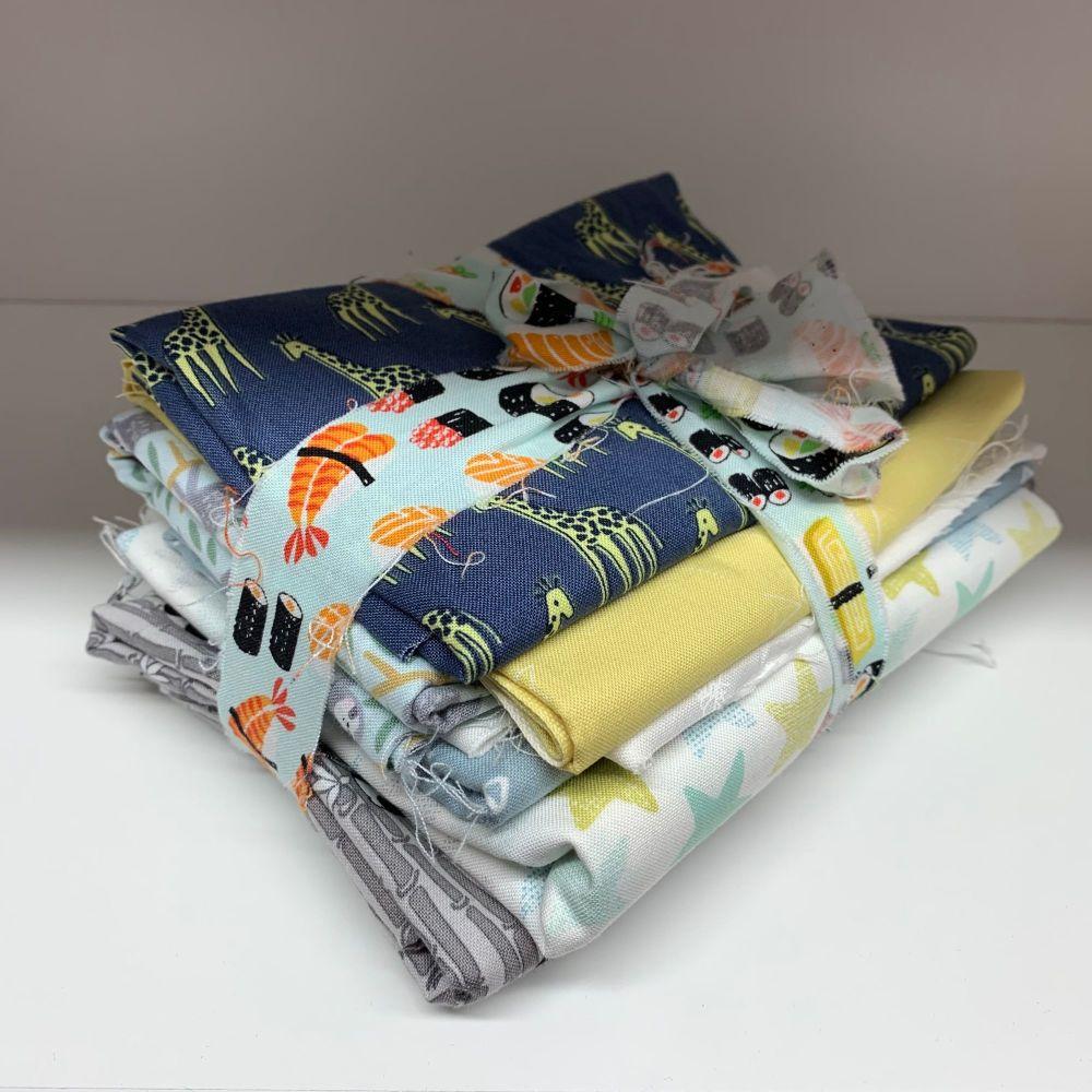 DESTASH Hey Baby Nursery Stash Starter Bundle Cotton Fabric Stash Stack