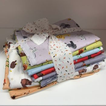 DESTASH Small Things World Animals Stash Starter Bundle Cotton Fabric Stash Stack