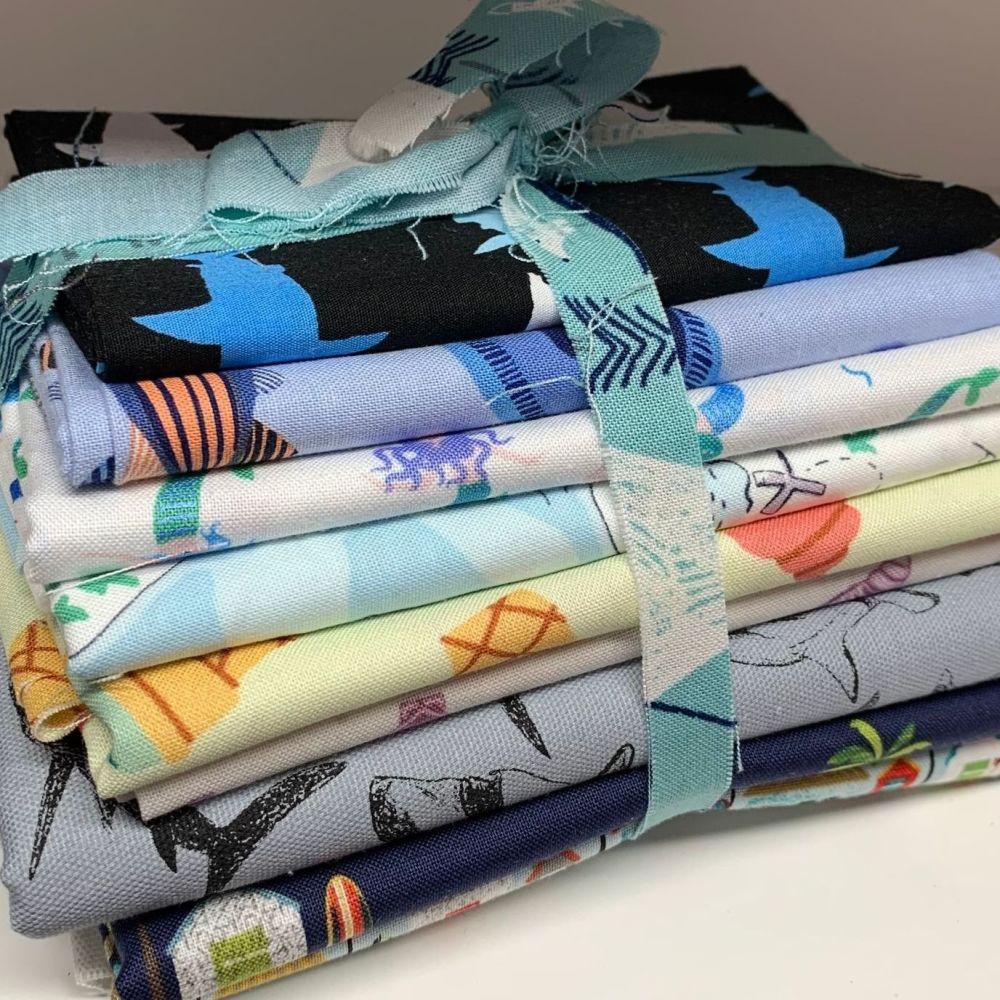 DESTASH Seaside Stash Starter Bundle Cotton Fabric Stash Stack