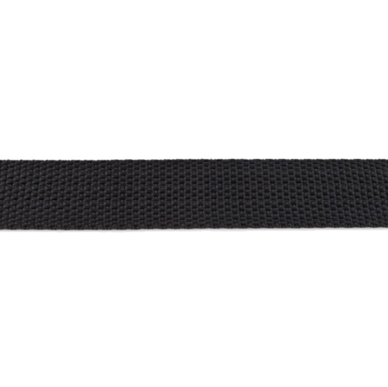 Bag Handles and Straps Webbing Black Polypropylene 25mm 1 inch Wide Polypro