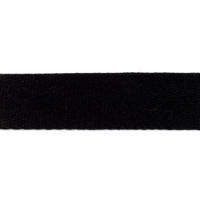 Bag Handles and Straps Webbing Black Cotton 40mm 1.57 inch Wide Cotton Strapping Per Metre