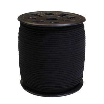 Narrow Banded Elastic 4mm Nylon Black Per Metre