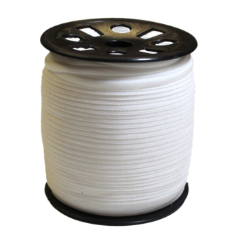 Narrow Banded Elastic 4mm Nylon White Per Metre