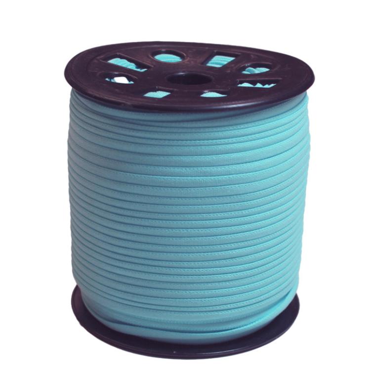 Narrow Banded Elastic 4mm Nylon Light Blue Per Metre