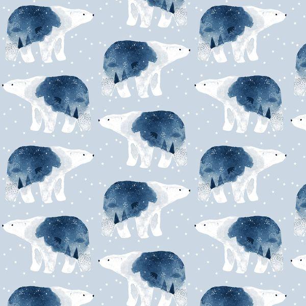 Brave Enough to Dream in Misty Polar Bear Constellation Bears Winter Dear S