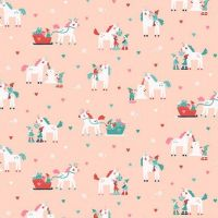 Sparkle All The Way Elves Parfait Unicorn Sleigh Elf Festive Holiday Dear Stella Cotton Fabric