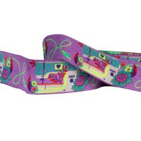 Tula Pink HomeMade Pedal to the Metal in Night Purple Renaissance Ribbons per yard