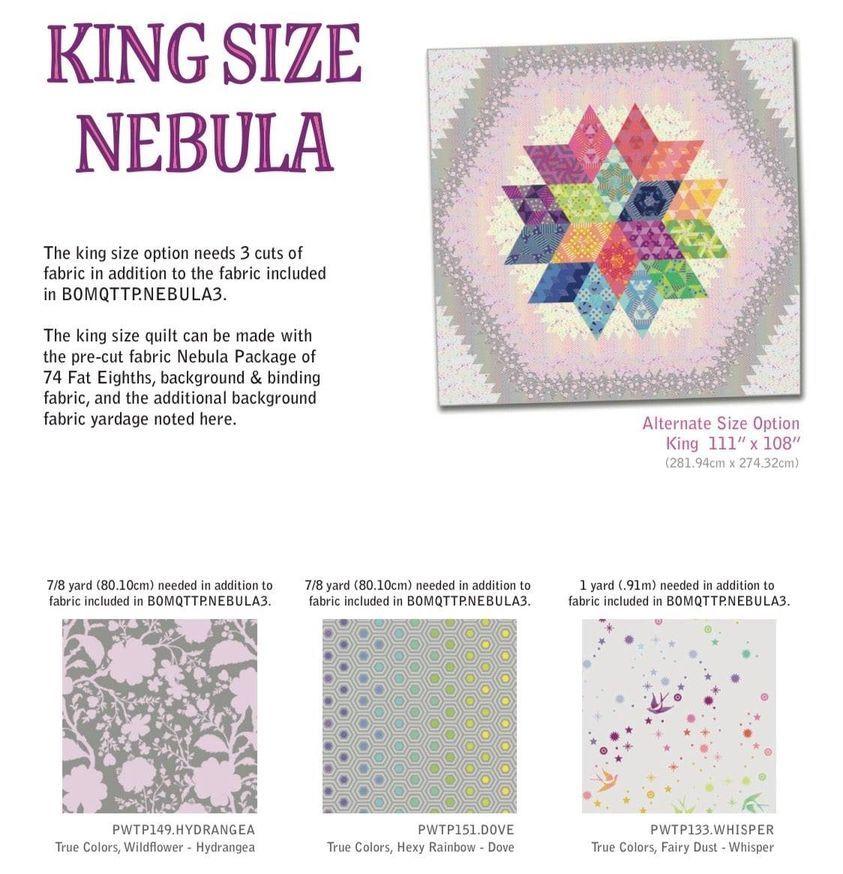 UK Nebula Block of the Month Kingsize True Colors Fabric Expansion - ORIGIN