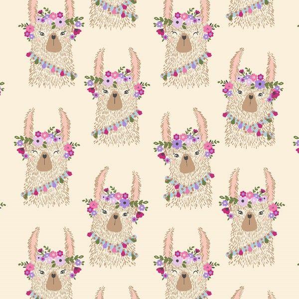 No Cause For A-Llama Llama Heads in Sand Flower Crown Floral Llamas Dear St