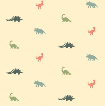 You Rock Mini Dinosaurs in Angora Tiny Dinosaur Dear Stella Cotton Fabric