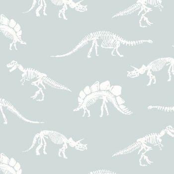 You Rock Fossils In Splash Dinosaur Bones Fossil Skeleton Dear Stella Cotton Fabric