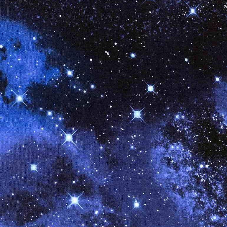 Space Galaxy 9924 Constellations Sky Star Night Skies Timeless Treasures Co
