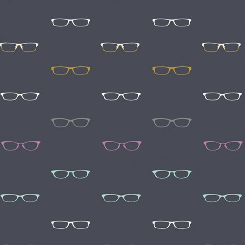 Hooked Readers Glasses Mister Domestic Art Gallery Fabrics Cotton Fabric