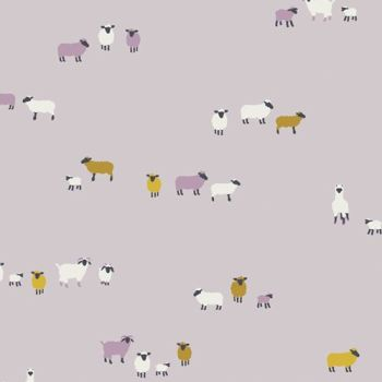 Hooked Wool Origins Sheep Mister Domestic Art Gallery Fabrics Cotton Fabric
