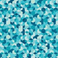 Aura Mau Loa Seabed Geometric Tumbling Blocks Mister Domestic Art Gallery Fabrics Cotton Fabric