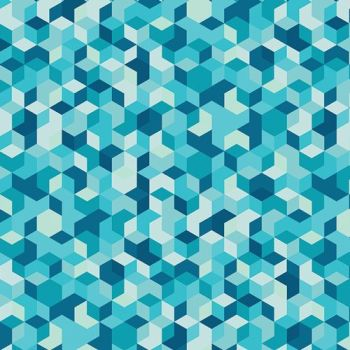 Aura Mau Loa Seabed Geometric Tumbling Blocks Mister Domestic Art Gallery Fabrics Cotton Fabric