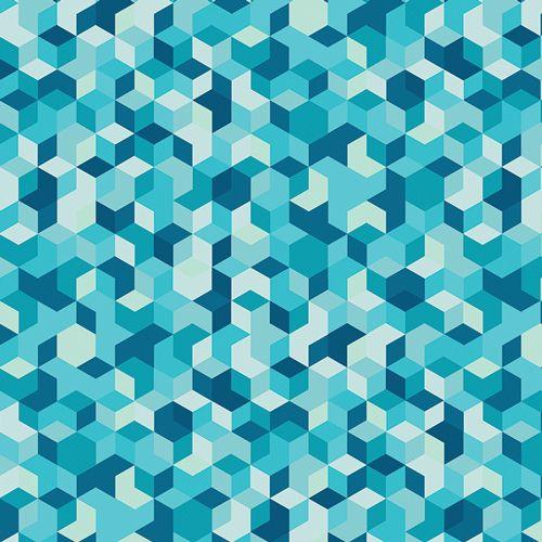 Aura Mau Loa Seabed Geometric Tumbling Blocks Mister Domestic Art Gallery F