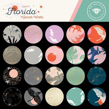 Florida Sarah Watts Ruby Star Society 23 Full Collection Fat Quarter Bundle Cotton Fabric Cloth Stack