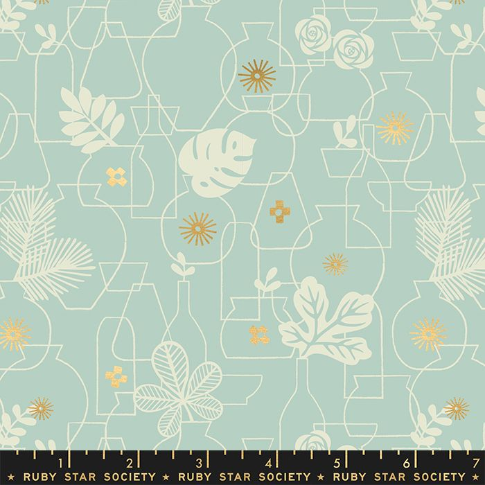 Whatnot Potted Polar Rashida Coleman-Hale Metallic Gold Botanical Leaves Va