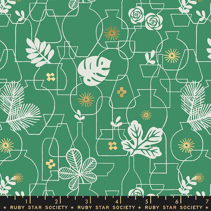 Whatnot Potted Emerald Green Rashida Coleman-Hale Metallic Gold Botanical L