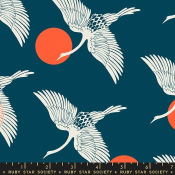 Florida Egrets Peacock Sarah Watts Ruby Star Society Cotton Fabric