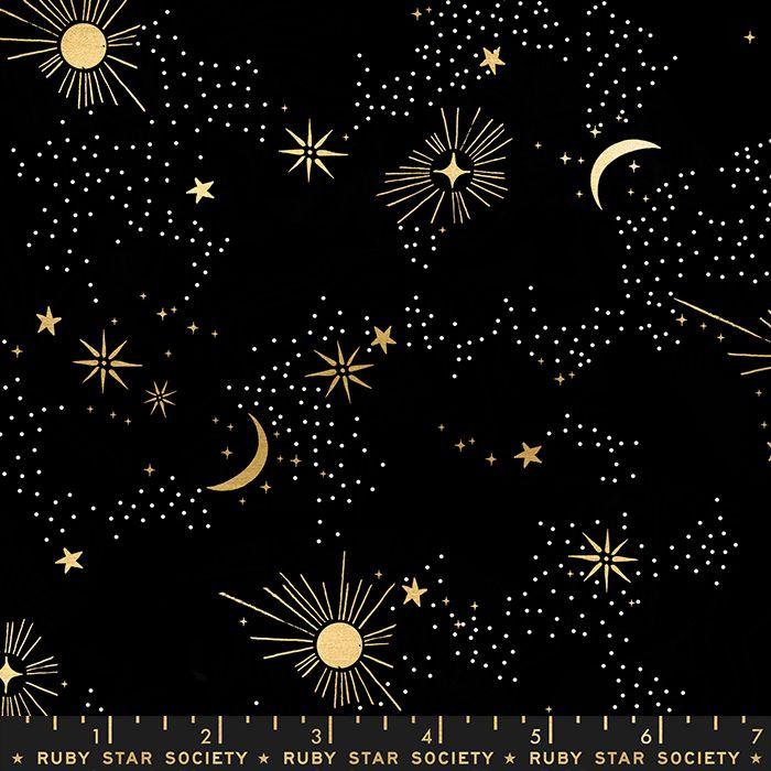 Florida Cosmos Black Sarah Watts Night Sky Metallic Gold Ruby Star Society