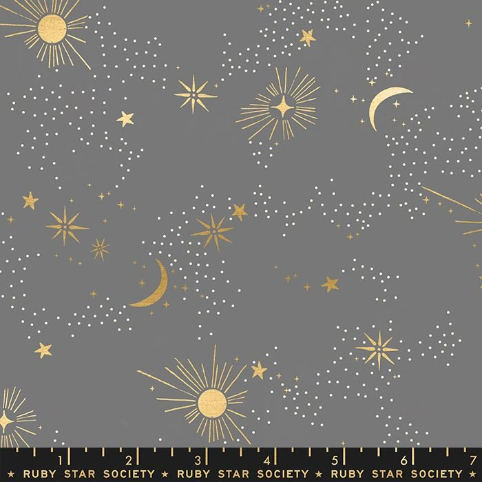 Florida Cosmos Slate Grey Sarah Watts Night Sky Metallic Gold Ruby Star Soc
