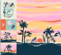 Florida Quilt Panel Ruby Star Society Sarah Watts Digital Cotton Sateen Fabric