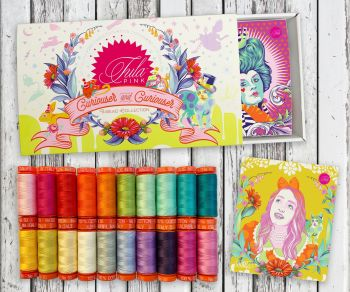 Tula Pink Curiouser and Curiouser Collection Aurifil Cotton Thread 20 Small 200m Spool Box