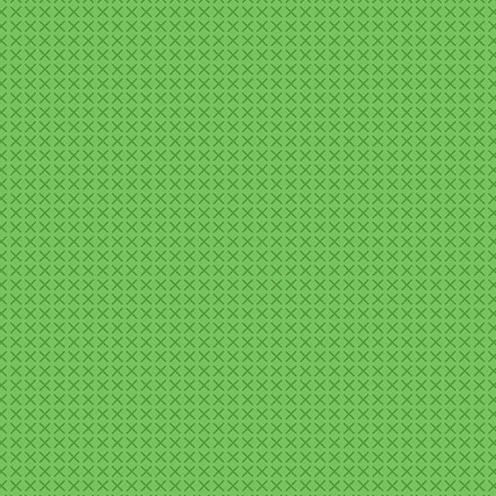 Cross Stitch Green Alison Glass A9254-G Cotton Fabric