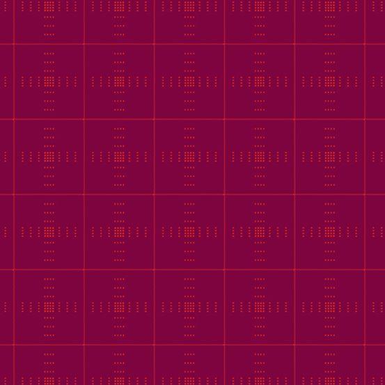 Entwine Woven Yarn-Dye Dobby Plaid Plum WV-PLAID-P Giucy Giuce Cotton Fabri