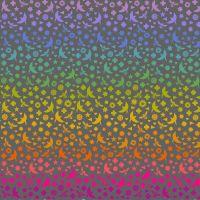 Art Theory Seventy Six Bird and Bee Night Alison Glass A9699-C Cotton Fabric