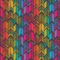 Art Theory Rainbow Feather Night Alison Glass A9701-C Cotton Fabric