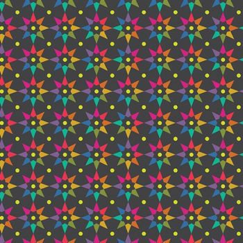 Art Theory Rainbow Star Night Alison Glass A9703-C Cotton Fabric